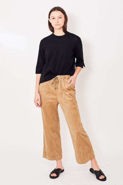 Zucca Drawstring Waist Cropped Pant