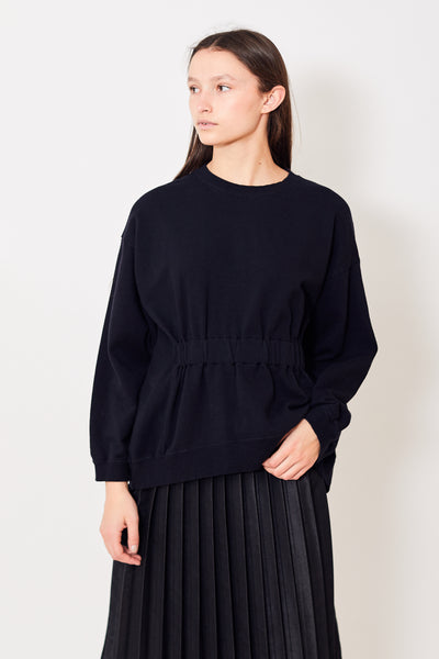 Zucca Gather Detail Crewneck Sweatshirt