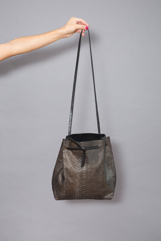 b.may Drawstring Python Bag - grethen house