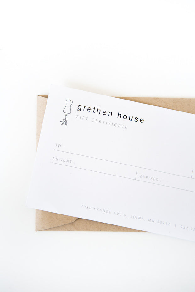 Gift Card - grethen house