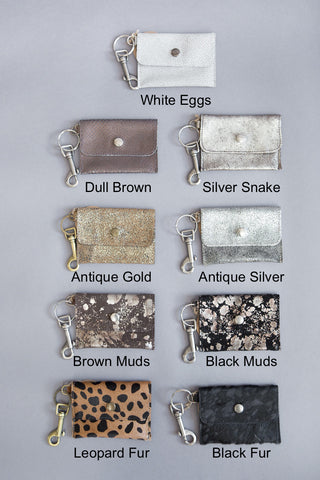 Kim White Coin Purse Key Chains