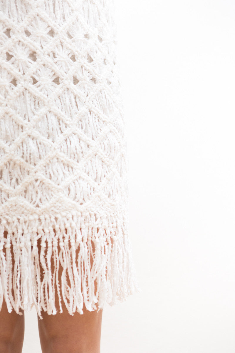 Tabula Rasa Akoto Crochet Fringe Dress