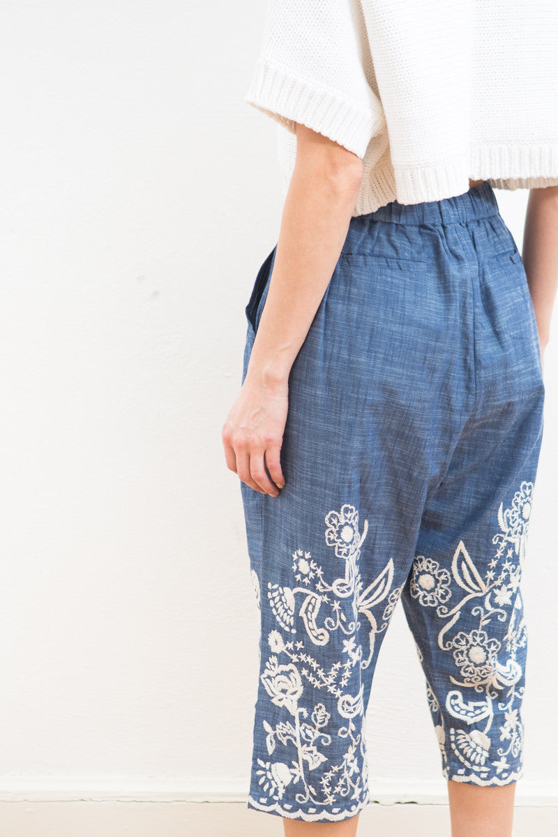 Sea NY Hand Stitched Cropped Pant