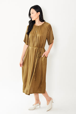 Raquel Allegra Flutter Midi Dress