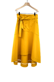 Odeeh High Low Belted Skirt