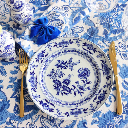 """All Blue"" Dinner Set for 4 people"