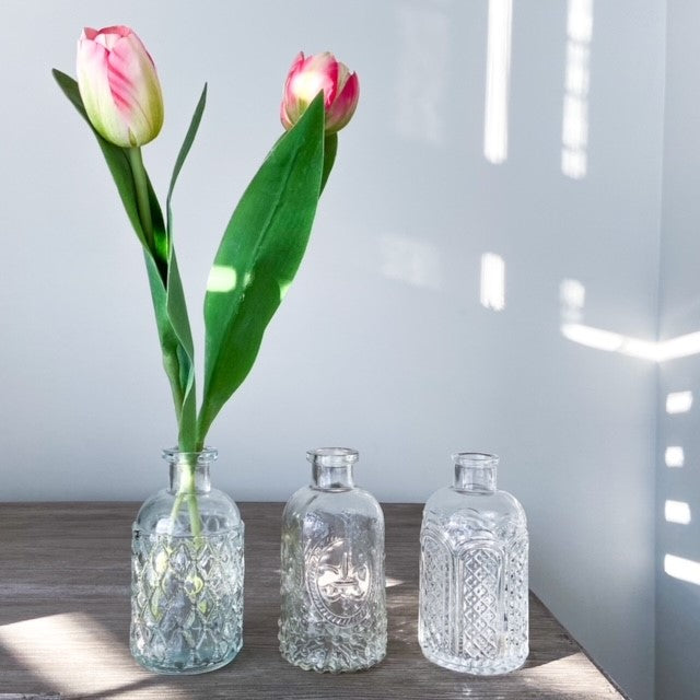 Glass Bottle Bud Vase