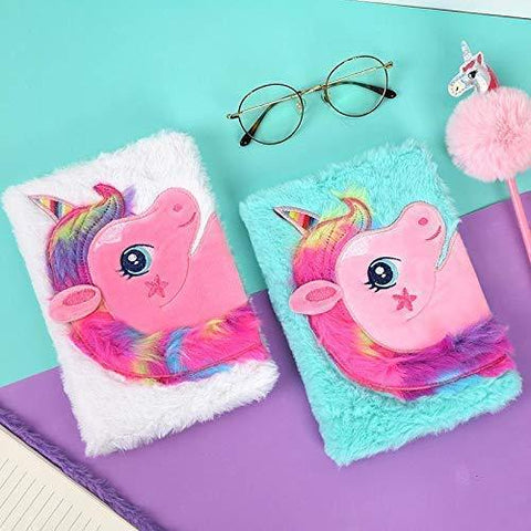Quirky Diary Notepad Unicorn Plush Gifts Online Giftastic