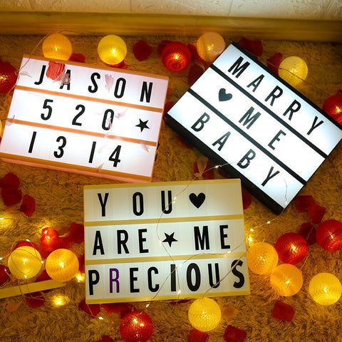 Light up box Cinematic Light Up Box with 96 Letters Symbols and Number