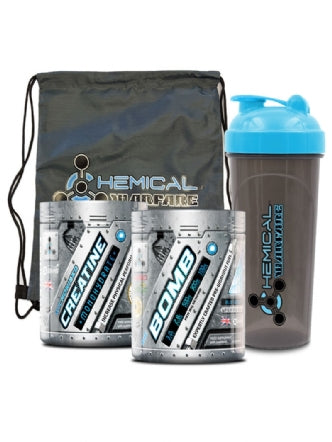 Chemical  Warfare  The Bomb -Pre-Workout 30 Serving $ Stringer Bag And Shaker