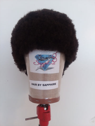 afro wig, afrocentric wig, negro wig, urban wig, kinky wig, nappy fro, fro wig, nappy afro, nappy wig, nappy afro wig, kinky afro wig, custom afro wig, black panther wig, black power wig, custom made wig by Sapphire of Hair by Sapphire
