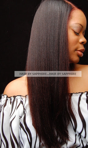 Long Straight Thick Beautiful Flat Iron Hairstyle by Sapphire of Hair by Sapphire