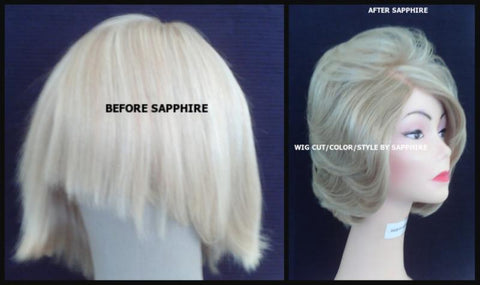 ASH BLONDE WIG MAKING BY SAPPHIRE OF HAIR BY SAPPHIRE