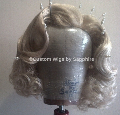 Custom Made Blonde Wig Named Mary. Custom wig made by Sapphire of Hair by Sapphire at www.HairbySapphire.com