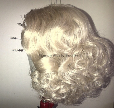 Custom Made Wig Named Mary. Blonde Custom wig made by Sapphire of Hair by Sapphire at www.HairbySapphire.com