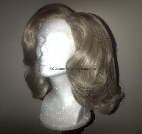 Custom Made Wig Named Nancy. Custom blonde wig made by Sapphire of Hair by Sapphire at www.HairbySapphire.com