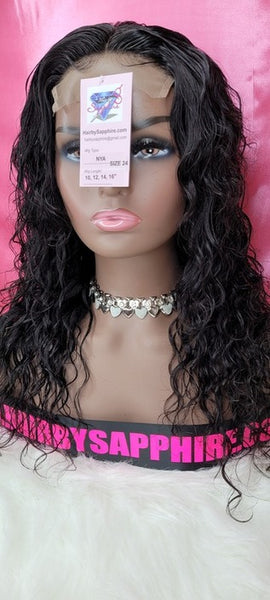 Loose wave, wet n wavy, jeri curl curly Custom Made Human Hair Wig Unit from Hair by Sapphire