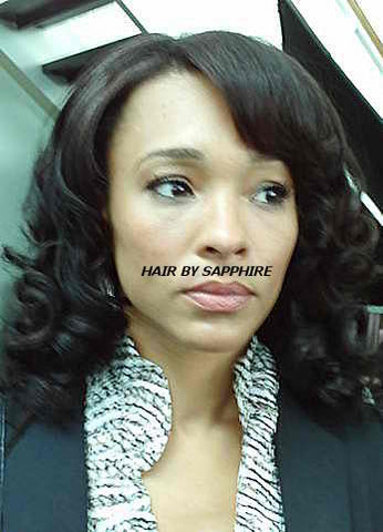 Blow Dry African American Black Hairstyle by Sapphire of Hair by Sapphire