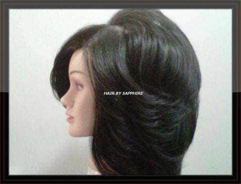 Round Brush Blow Out Medium Length Hair by Sapphire of Hair by Sapphire