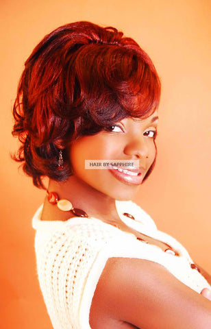 Doobie Body Wrap and Flat Iron Curl Hairstyle by Sapphire of Hair by Sapphire