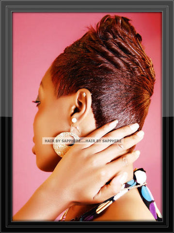 Short Hair Cut Relaxer Wrap and Curl Hairstyle by Sapphire of Hair by Sapphire
