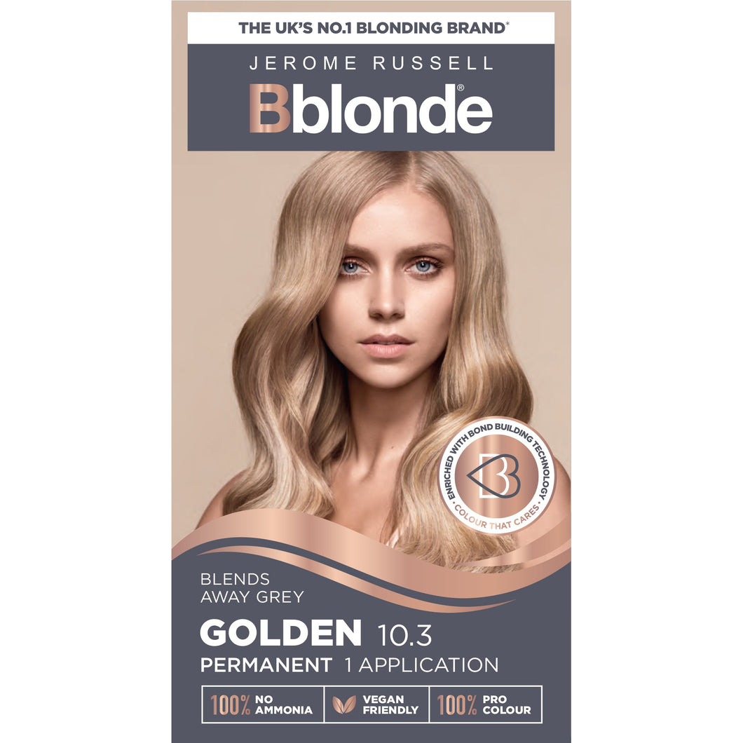 Jerome Russell - Bblonde Permanent Colour Golden Blonde 10.3