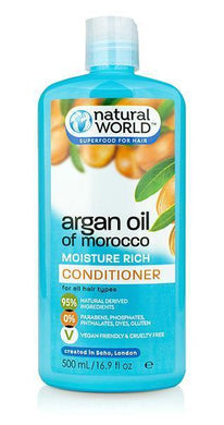 Natural World Argan Oil of Morocco Conditioner 500ml