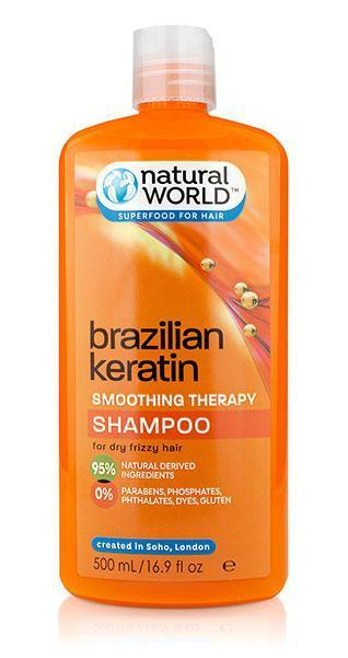 Natural World Brazilian Keratin Shampoo 500ml