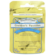 Load image into Gallery viewer, Grether's Pastilles Blackcurrant Sachet Sugar Free 30g - DATED JUNE 2021