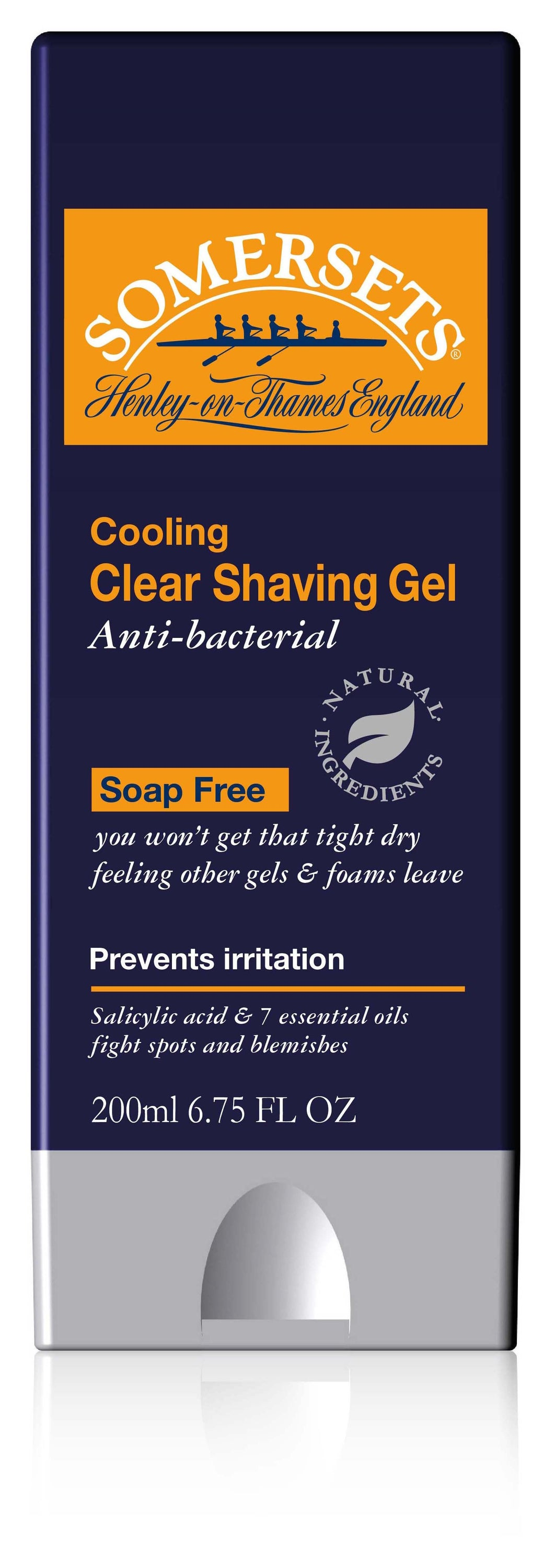 Somersets Anti-bacterial Clear Shaving Gel 200ml