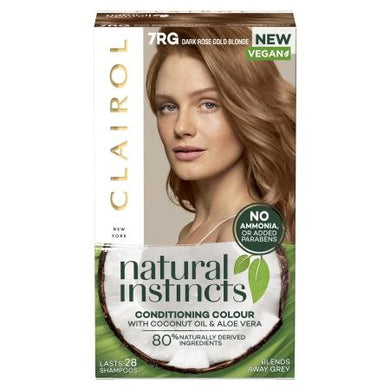 Clairol Natural Instincts - Dark Rose Gold Blonde - 7RG