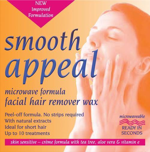 Smooth Appeal Microwave Facial Hair Remover Wax 40g