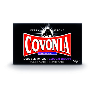 Covonia Double Impact Cough Drops - Berry Blast 30g