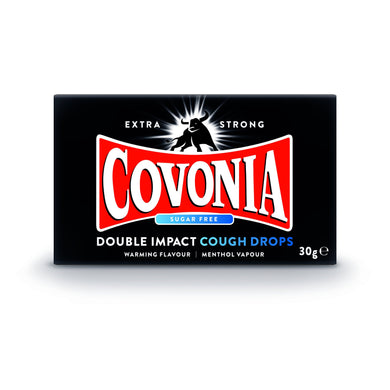 Covonia Double Impact Cough Drops - Sugar Free 30g