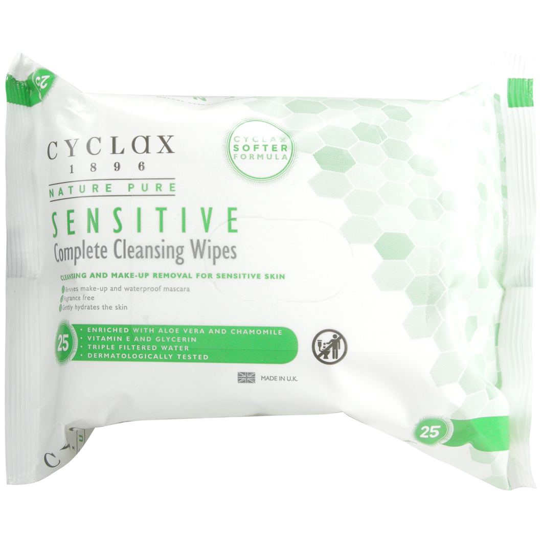 Cyclax Nature Pure Sensitive Wipes (25s)