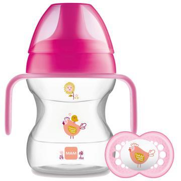 MAM Learn to Drink Cup & Handles 190ml - GIRL