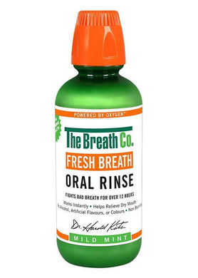 The Breath Co Fresh Breath Oral Rinse - Mild Mint - 500ml