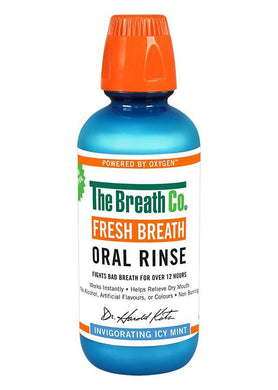 The Breath Co Fresh Breath Oral Rinse - Icy Mint - 500ml