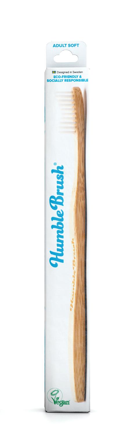 The Humble Co Adult Soft / Medium Toothbrush - Mixed Colours