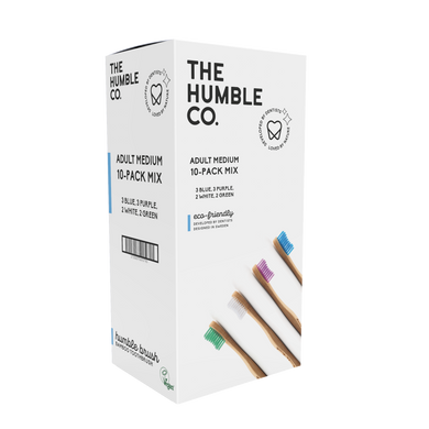 The Humble Co Adult Soft Toothbrush - Mixed Colours