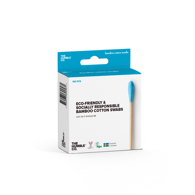 The Humble Co Bamboo Cotton Swabs - Blue