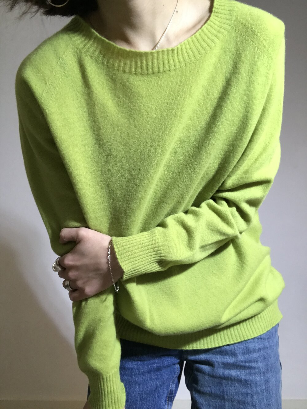 Cashmere mixed knit pullover