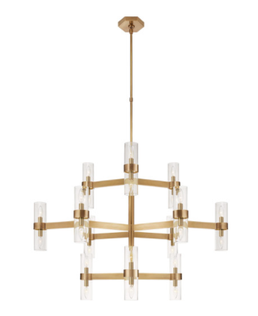 Visual Comfort Margita Antique Brass Chandelier Ceiling Light