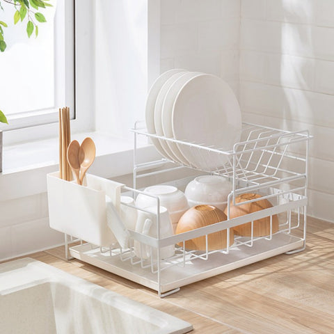 Detachable 2-Tier Large Dish Drying Rack - Urban Kitchen Supply