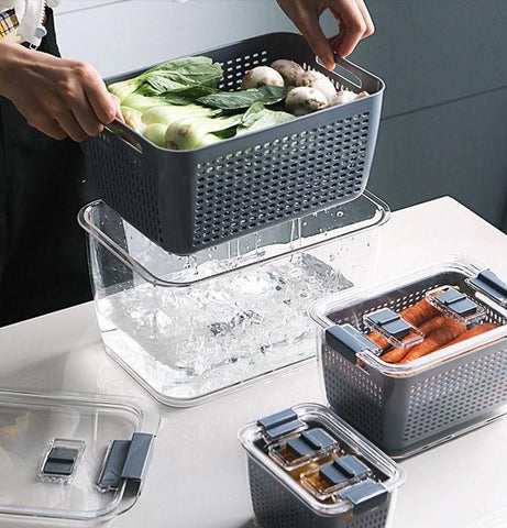 Strainage™ Airtight Container - Urban Kitchen Supply Ensures Food Stays Fresh: Storage container feature built-in on-off vent and maintain freshness longer for different foods.