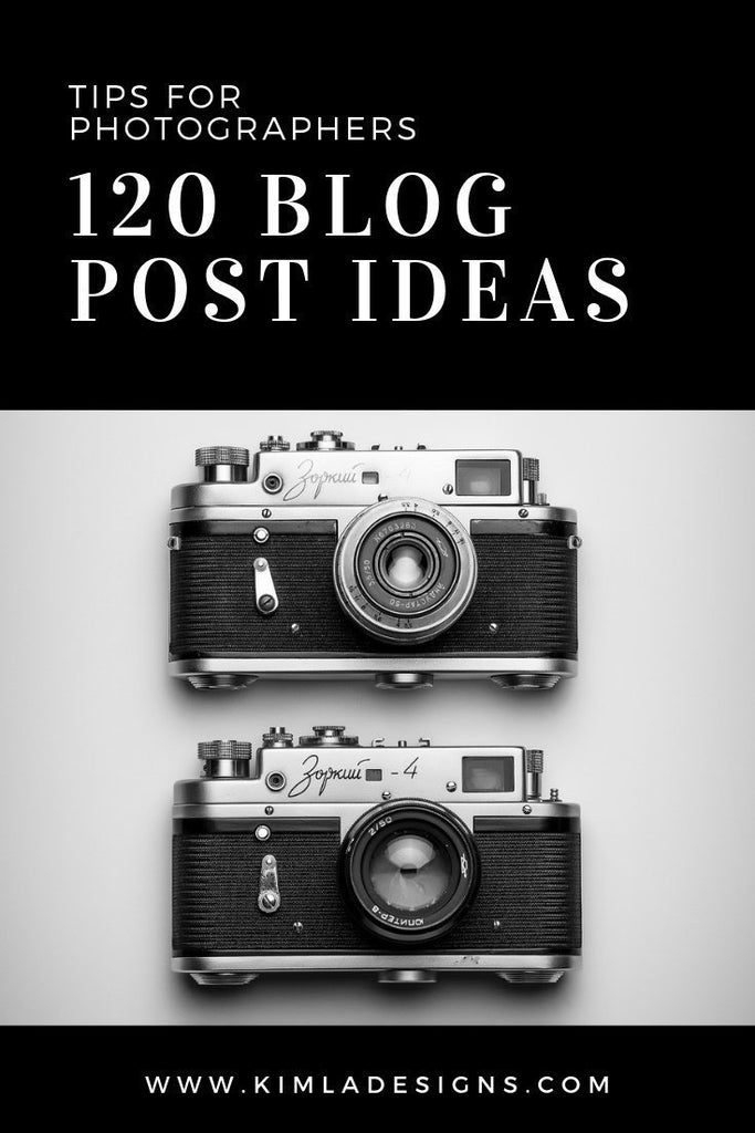 Camera - 120 Blog Post Ideas for Photographers