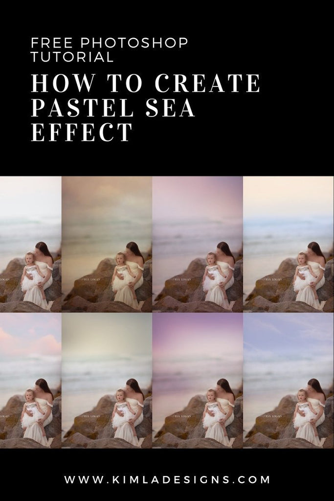 Collage - How to Create Pastel Sea Effect in Photoshop