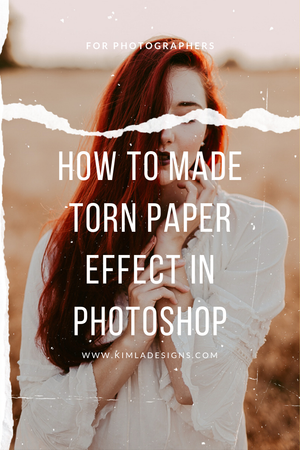 Human - How to Made Torn Paper Effect in Photoshop