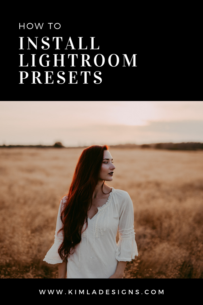 Clothing - How to install Presets in Lightroom Classic and ACR