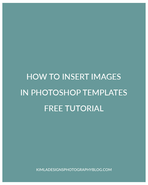 How to insert images using Kimla Designs PS Templates Free Photoshop Tutorial